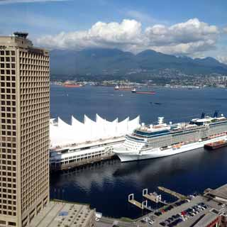 View of Canada Place from Ficom's 28th Floor Vancouver offices