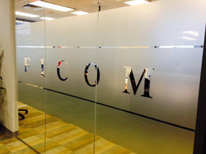 Entrance to Ficom offices
