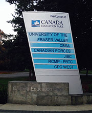Canada Education Park Sign