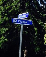 Dieppe Street Sign