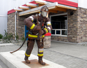 Scrap metal firefighter